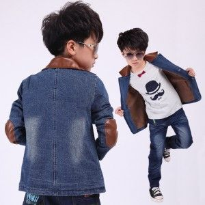 Boy Kids Denim Jacket Outerwear Cowboy Coat