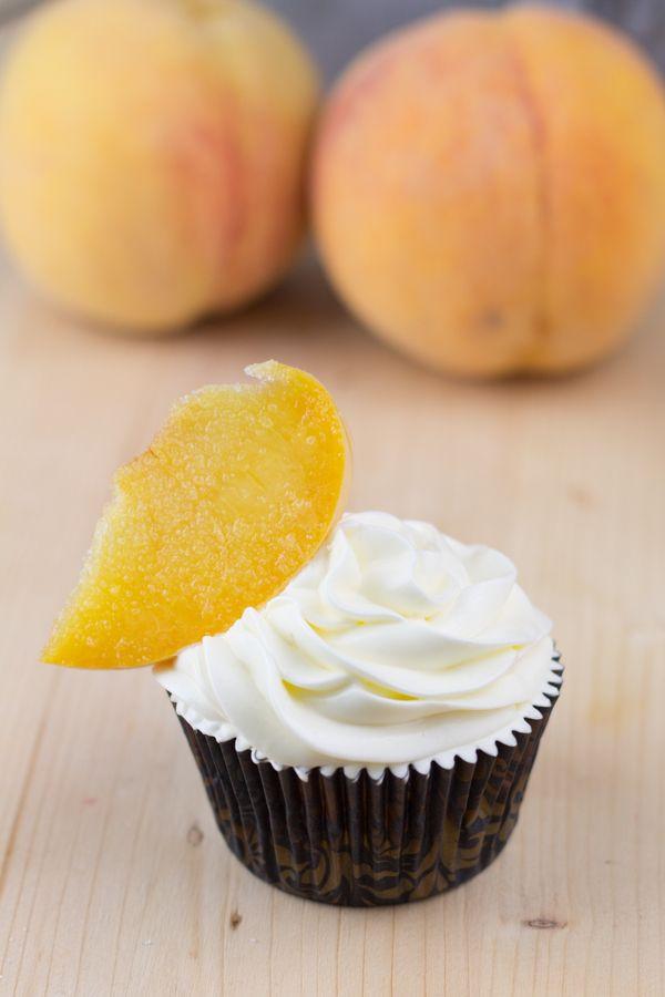 ": ""Peaches Cream"" for my dear Espido Freire Peach Cupcakes, Mini Cupcakes, Cupcake Frosting, Cupcake Cakes, Cup Cakes, Cake Pops, Cupcake Recipes, Muffins, Desserts"