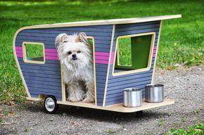 diseño de casas para perros, trailer, remolque, camper,