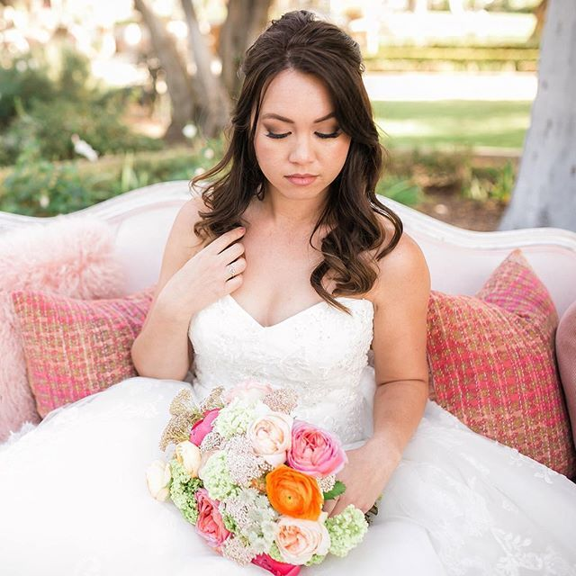 Looking for #weddingmakeup inspiration for your big day? Look no further than @brianna_ruben's artistry here on Charlene, who wears #Style2203! Photography:@camariemcbride // Rentals:@bakerparty @sweetsalvagerentals // Event Design: @experiencehush // Venue: @giraccivineyards // Floral Design: @studiolafleur