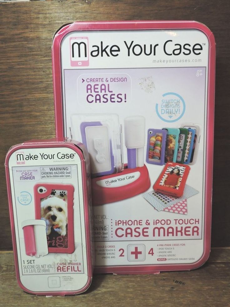 New Make Your Case Phone Case Maker iPhone iPod Touch Samsung Galaxy +Gel Refill #MakeYourCase