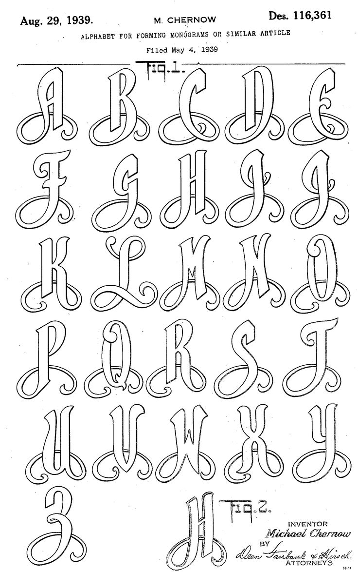 Monogram alphabets for hand embroidery