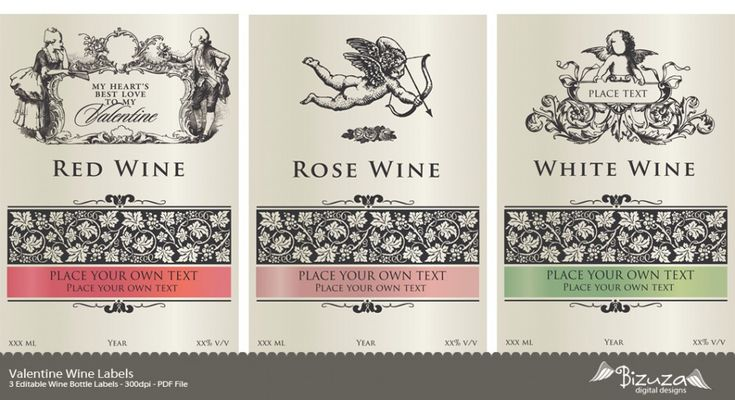 printable wine label valentine wine labels editable pdf clock face templates pinterest. Black Bedroom Furniture Sets. Home Design Ideas