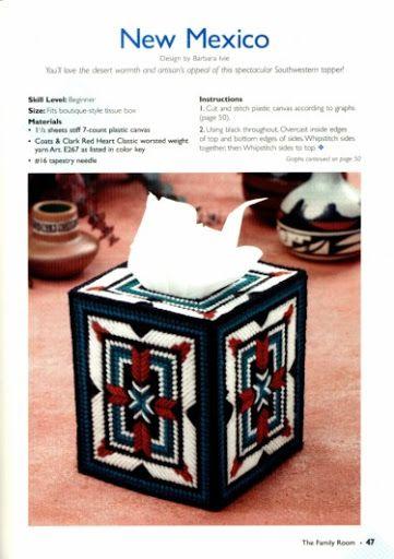 New Mexico Tissue Box Cover 1/2