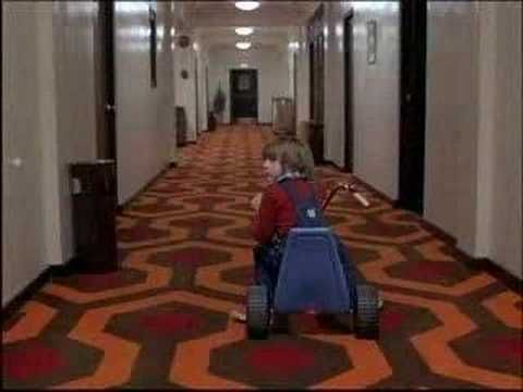 Another recut trailer in which the music completely changes the meaning of the original movie: The Shining (happy version)
