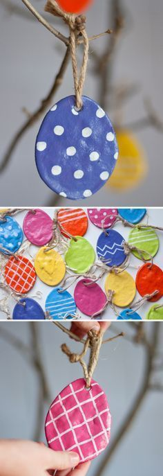 DIY Salt Dough Eggs. Perfect craft for the kids to make for Easter and they will love seeing it used as decoration!
