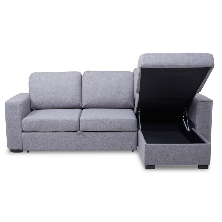 Ronny Fabric Corner Sofa Bed with Storage – Next Day Delivery Ronny Fabric Corner Sofa Bed with Storage