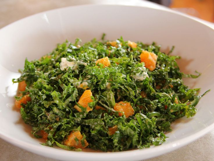 """Kale Citrus Salad : """"Because the kale holds up well, the salad can be tossed 15 minutes before serving,"""" Ree notes of a prep-ahead option when serving this speedy salad. She balances the subtle heat of sliced jalapeno with cool, creamy goat cheese and bright tangerines to create bold results."""