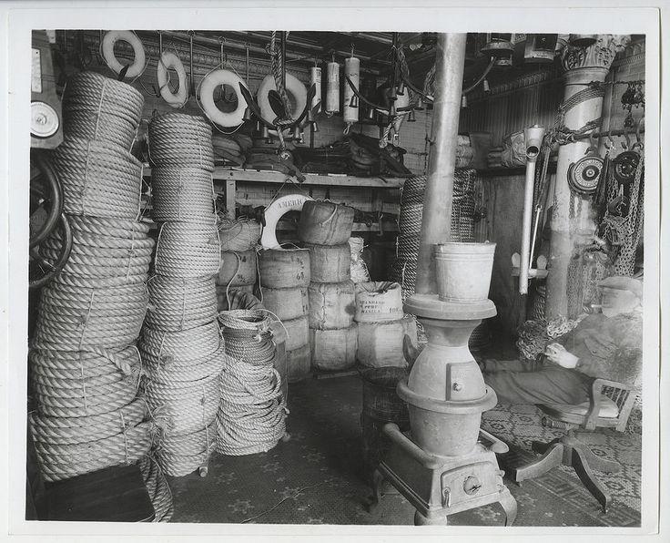 "Berenice Abbott ""Rope Store, South St. & James Slip,1936"" Contact Photo"