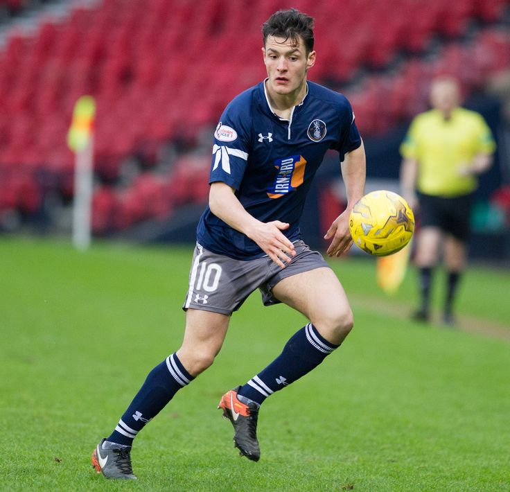 Queen's Park's Kalvin Orsi in action during the Ladbrokes League One game between Queen's Park and Livingston.