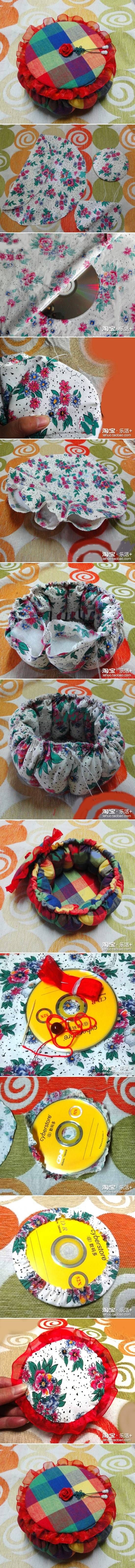 DIY Old CD Pumpkin Box.LINDA MANEIRA DE APROVEITAR,AQUELE CD VELHO,VIRÃO FICOU…