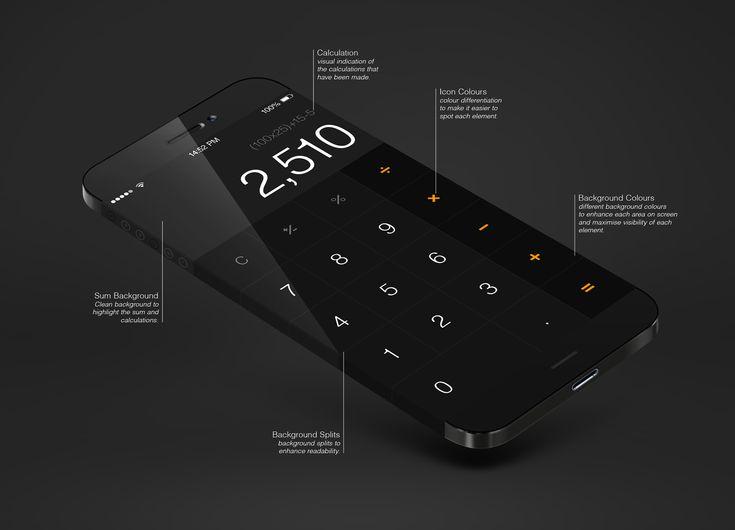 iOS7: Calculator - by Michael Shanks  #ui #ios