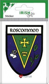 County Crests Roscommon Shield Sticker  For more crests visit our website: http://iluvscotland.co.uk/county-crests-roscommon-shield-sticker  £3.49