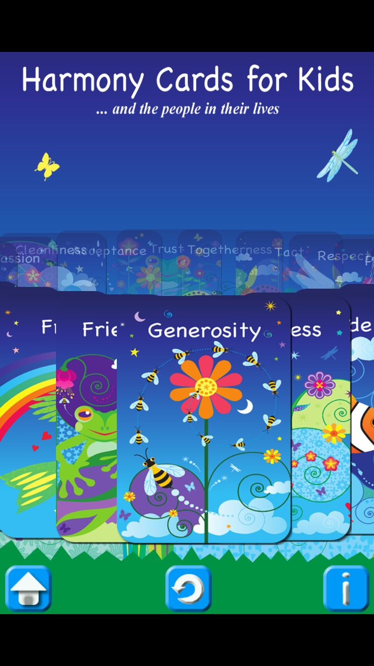 Harmony Cards APP is a fantastic way to have a mindfulness and values resource at your fingertips for your children.  30 Virtues and 120 Affirmations.  Filled with Australian animals and sea and plant life.  Divine.