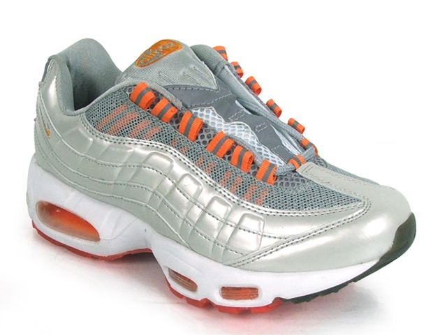Chaussures Nike Air Max 95 Blanc/ Rouge/ Argent/ Orange - : Nike Chaussure  Pas Cher,Nike Blazer and Timerland