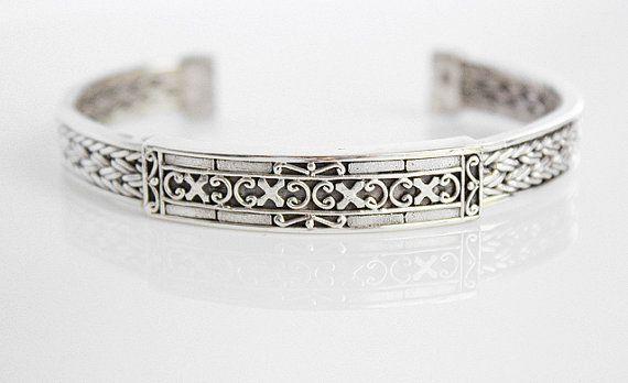 Ancient Sterling Silver Bracelet  Intricate Silver by karioi, $226.00 http://etsy.com/shop/karioi