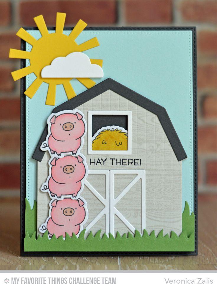 The Whole Herd, Barn Die-namics, Flat-Bottom Clouds Die-namics, Grassy Fields Die-namics, Sun, Moon, & Stars Die-namics, The Whole Herd Die-namics - Veronica Zalis   #mftstamps