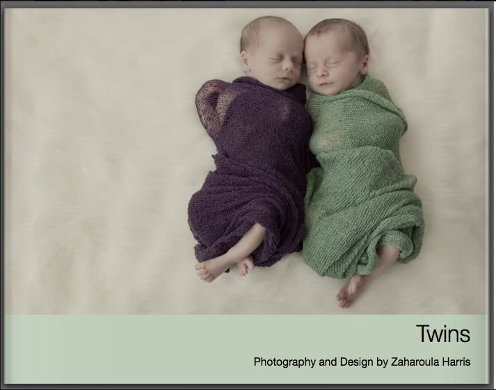 """Twins"" first hardcover book by Zaharoula Harris of Zedphotography www.zedphotography.com.au"