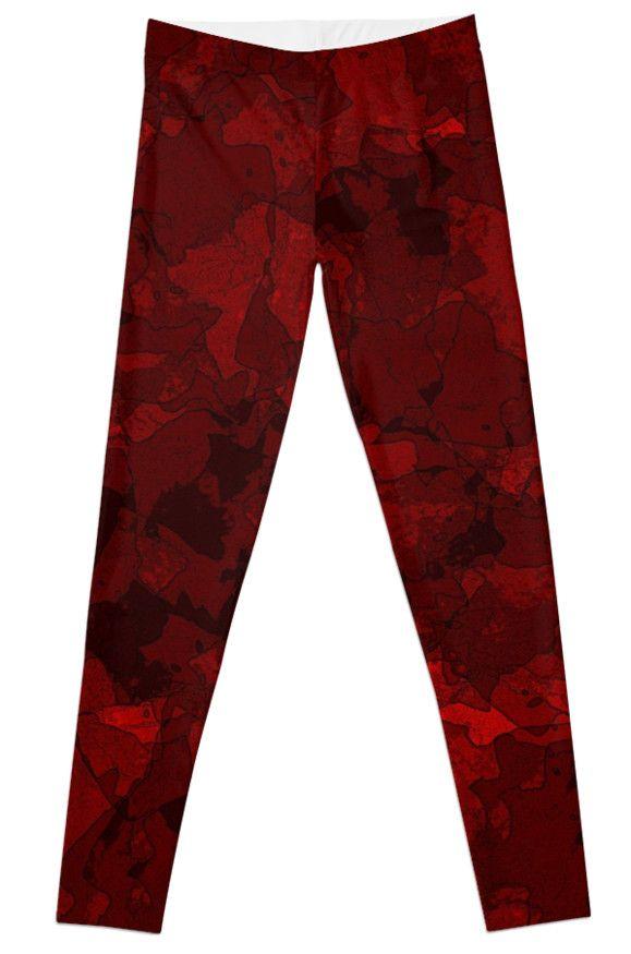 #Leggings #RedLeggings #Blood #RedPants Blood Red by Mannzie