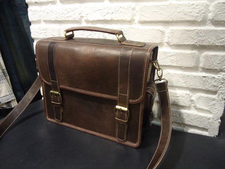 Tas Selemapang Kulit Asli Vintage Postman Bag KA007. Rp 550.000,-
