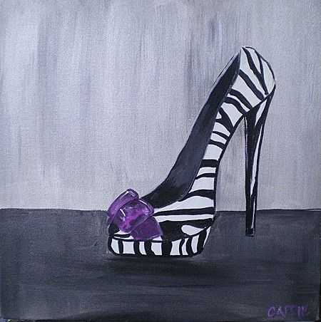 Painting Canvas Shoe With Acrylic