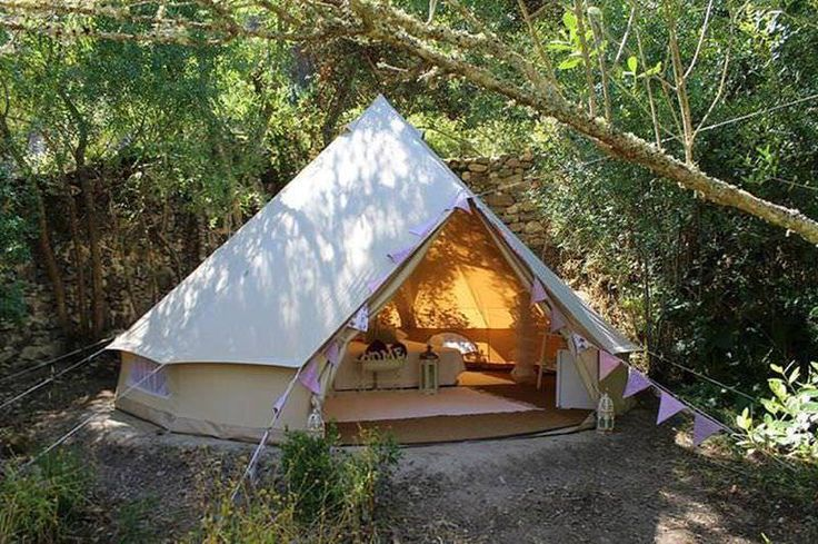 SIBLEY 400 Deluxe Tent - SIG Canvas Bell Tent/ Yurt/Teepee - Sewn-in Floor #CanvasCamp