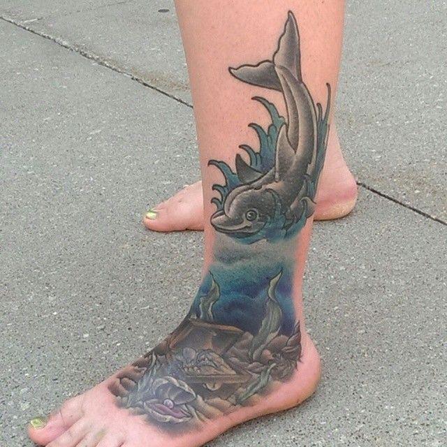 nice Top 100 dolphin tattoos - http://4develop.com.ua/top-100-dolphin-tattoos/ Check more at http://4develop.com.ua/top-100-dolphin-tattoos/