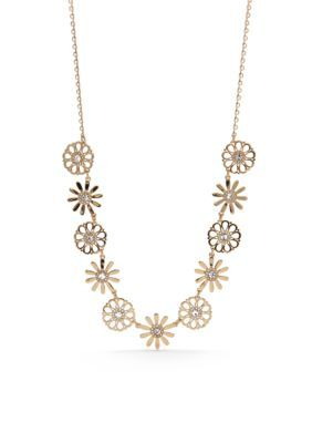 Kate Spade New York Women Floral Necklace - Gold - One Size
