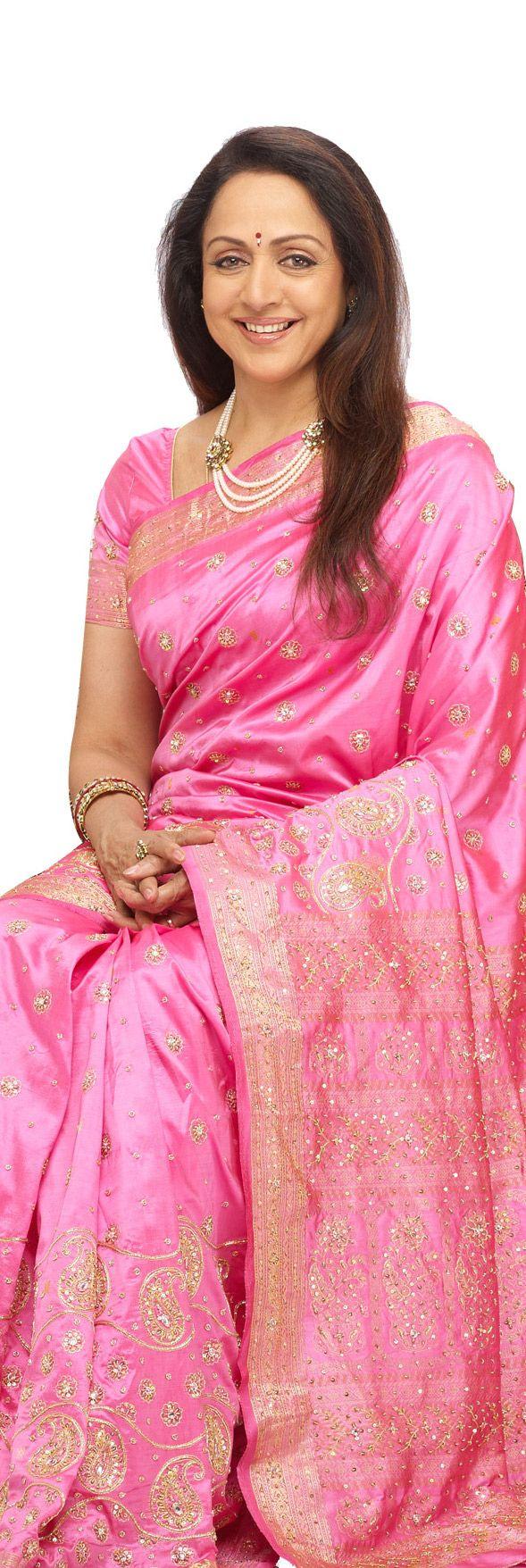 Hema Malini in Pothys silk - original pin by @webjournal
