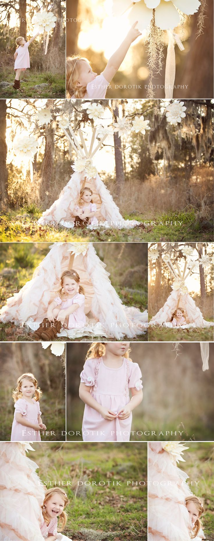whimsical child photography, child, unique, teepee, outdoor girl photography