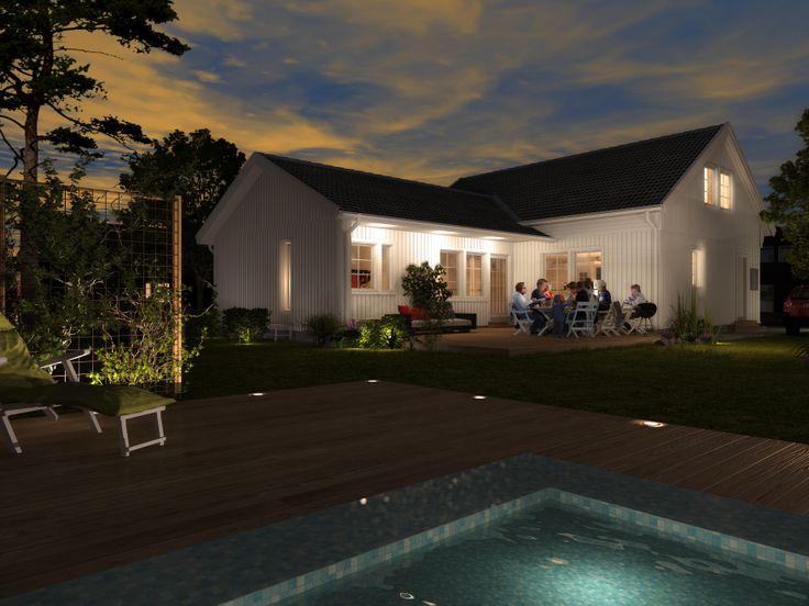 Älvsbyhus modell Saga 125,8 m² med inredningsbar vind på 48,8 m².