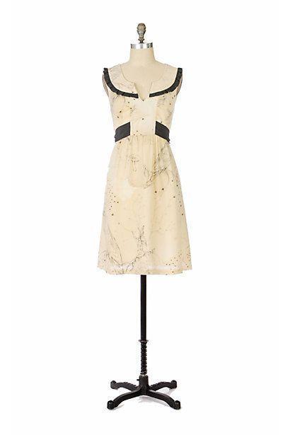 9acb3c37edd5 RARE Fei Anthropologie Whimsical Fairy Star Bird Mushroom Print Wool Dress  0 XS #Fei
