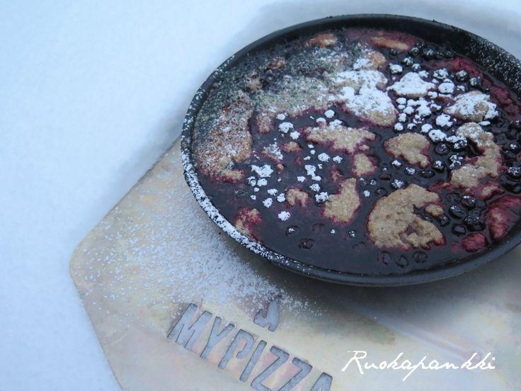 Ruokapankki: Ruismustikkapiirakka #ruokapankki #ruokablogi #mustikkapiirakka #pie #baking #blueberrypie