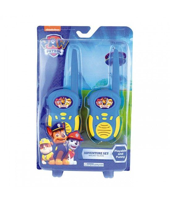 Set ce include 2 aparate tip walkie talkie, cu design inspirat din celebrele desene animate Patrula Canina