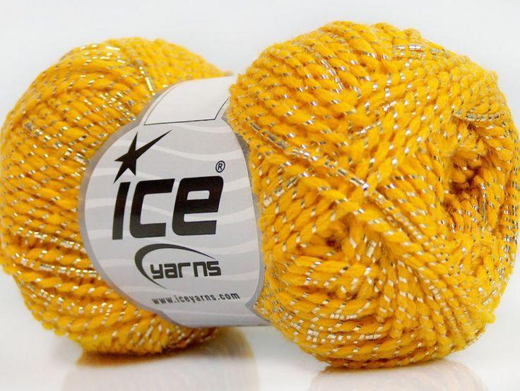 Metalik - Simli İplikler Simli Lüks Alpaka Viskon Sarı Altın  İçerik 36% Akrilik 19% Metalik Simli 16% Yün 16% Alpaka 13% Viskon Yellow Brand ICE Gold fnt2-41420