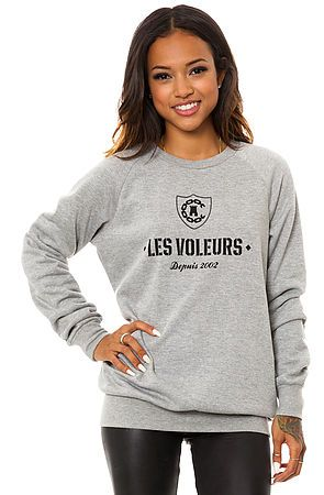 The Les Voleurs Crewneck in Grey by Crooks and Castles