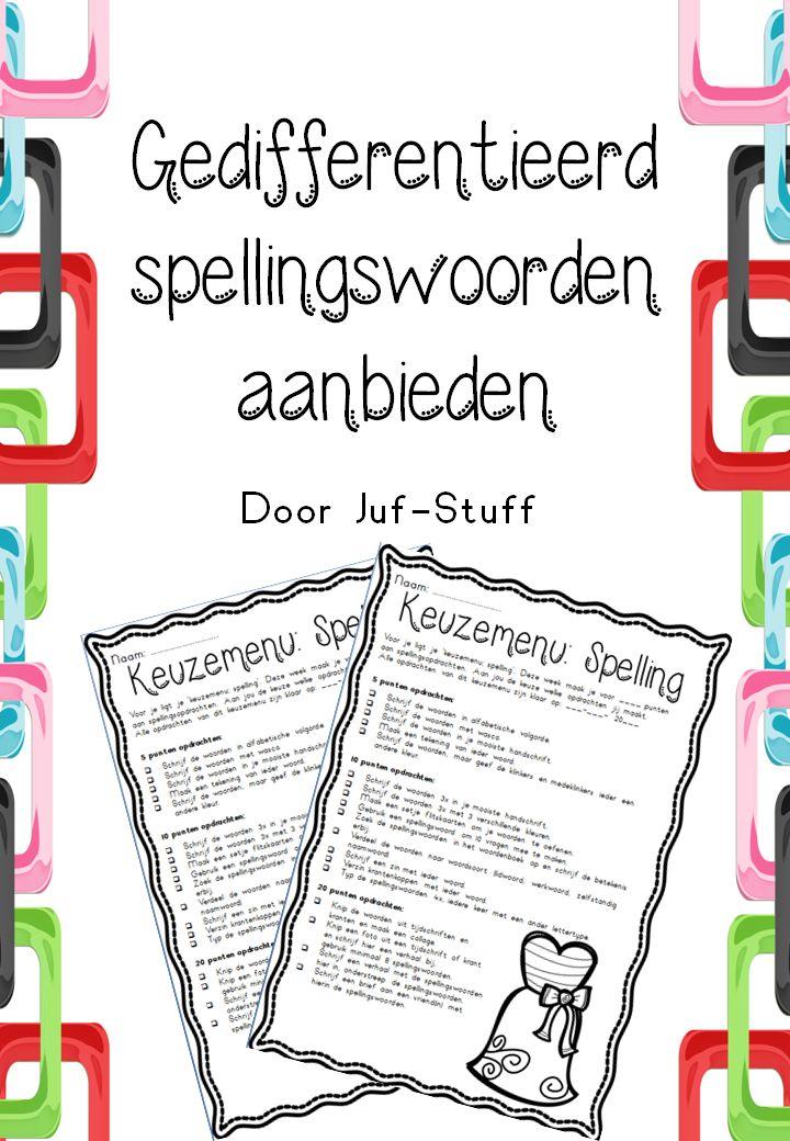 Leuke opdrachten en spellingswoorden oefenen!
