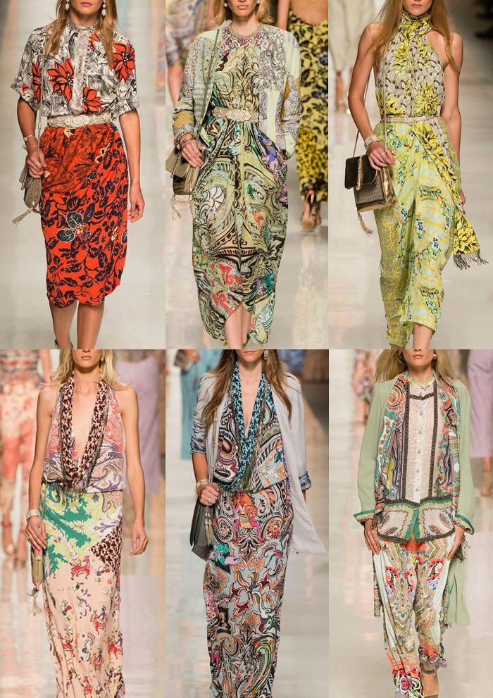 Etro Milan Fashion Week   Spring/Summer 2014   Print Highlights   Part 1