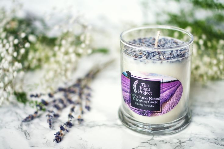 Lavender Candle in 2020 | Lavender candle, Candles, Soy ...