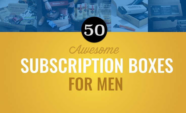 50 awesome subscription boxes for men. Includes the best men's clothing subscriptions, grooming subscriptions and other cool subscription boxes for men.