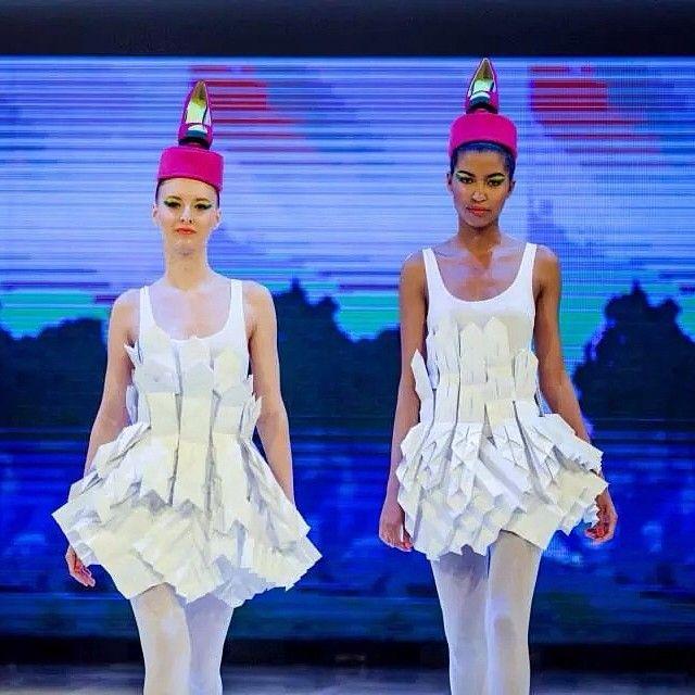 Paper dresses designed for the Fashion days of Árkád Szeged! // Edinas Paper Installations