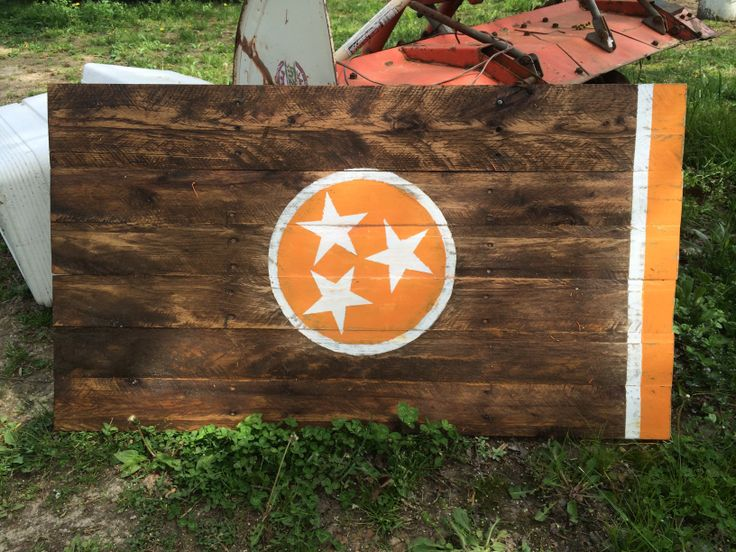 Tennessee Flag @mhall381  Oooh new project for Jace! lol...wouldn't this look lovely in your new home? lol.