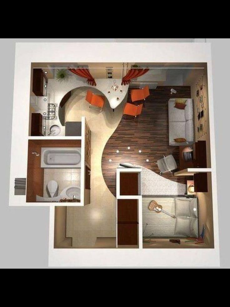 Mini apartamento dream home pinterest casas peque as for Disenos departamentos pequenos planos