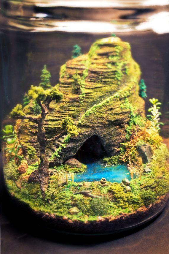 Mystic Mountain Stairway Miniature Bonsai Zen Garden by