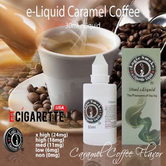 There's nothing better than the flavor and aroma of freshly brewed coffee, kissed with sweet, rich caramel. This is the pleasure you'll experience when vaping our caramel-coffee flavor electronic cigarette e-liquid. Not too sweet and a flavor that can't be beat! Add a few drops of any of our other flavors, such as chocolate or vanilla to add that little extra kick. Then kick back and enjoy! #50ml #CaramelCoffee #eliquid #ECigaretteUSA