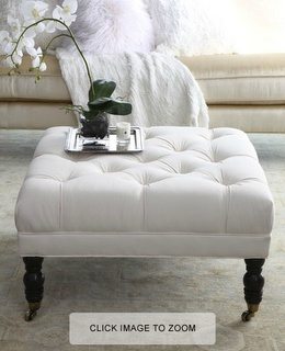 DIY Tufted Ottoman. Have one that needs recovering now...ideas great here makes me less afraid seeing but foam.com prices to redo two chairs waiting on me!