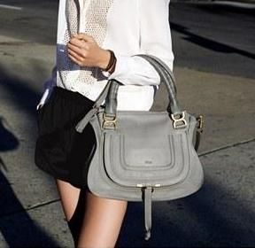 Always a favorite! Chloé Leather Shoulder Bag