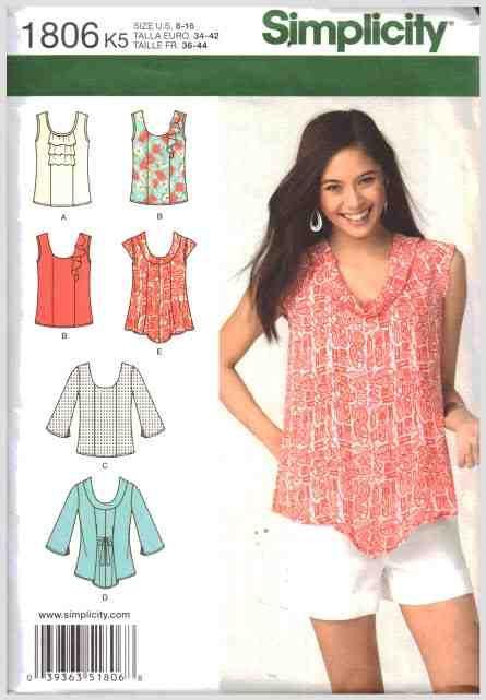 406 besten Top, Tunic , Blouse, Shirt Sewing Patterns Bilder auf ...