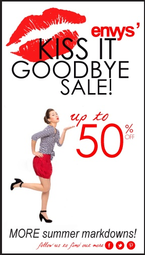 kiss it goodbye sale! on now at envy clothing company