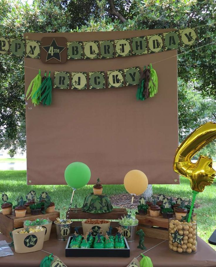 99 best images about military party ideas on pinterest for Army theme party decoration ideas